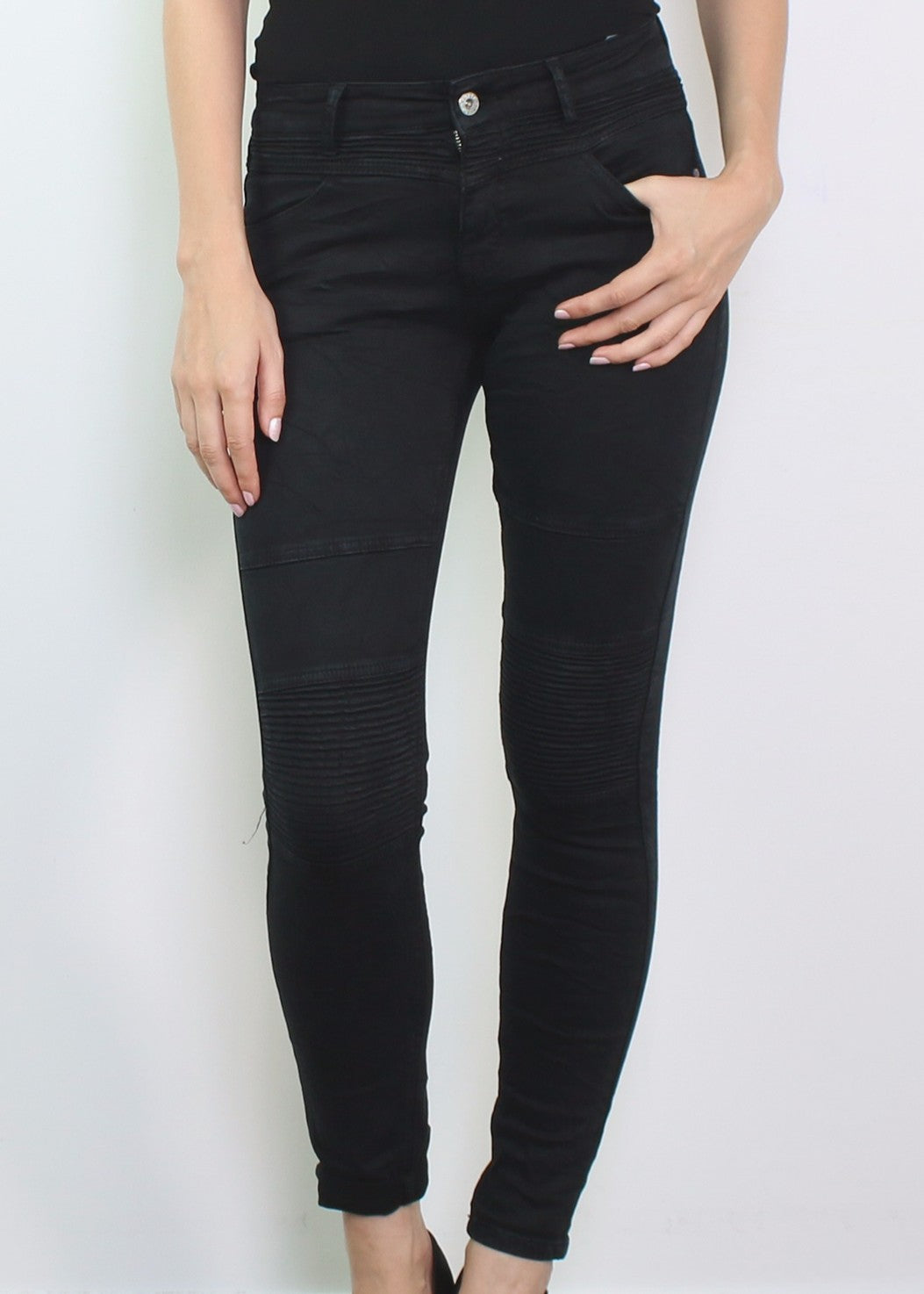 VLADA  Biker Jeans - Black - SOLD OUT