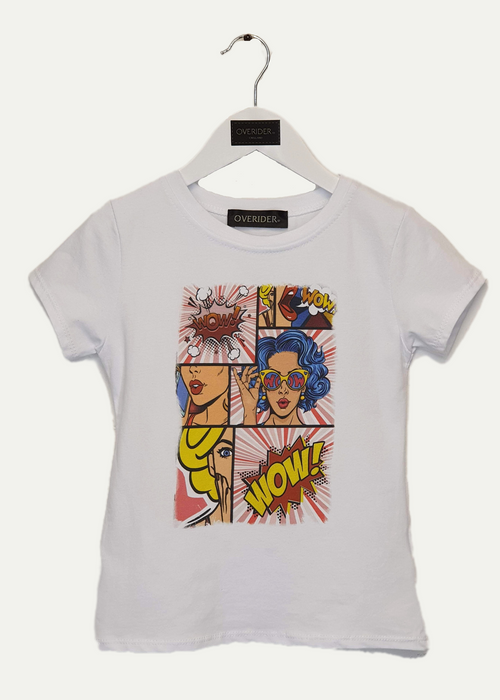 BLUE HAIR  - Girls Comic Art T-Shirt