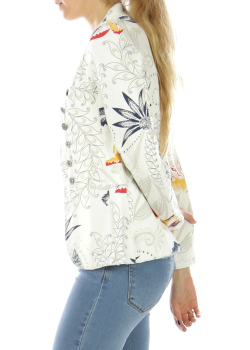 CALA - Floral Military Jacket - White