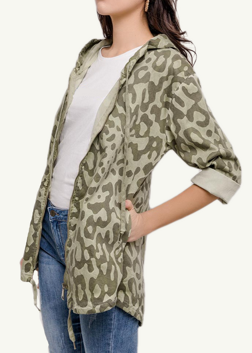 VIOLETTE - Camouflage Hooded Jacket