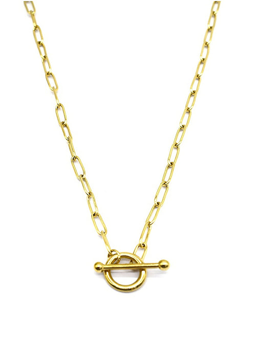 Copy of Ring & T Bar Necklace | Gold
