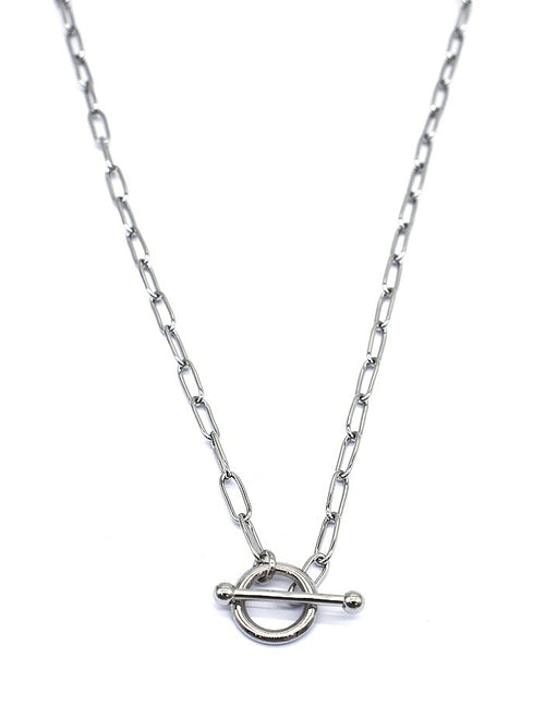 Ring & T Bar Necklace | Silver