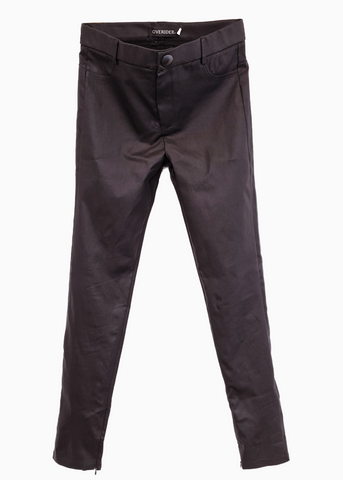 INGA  - Skinny Jeans with Zip & Buttons - Anthracite