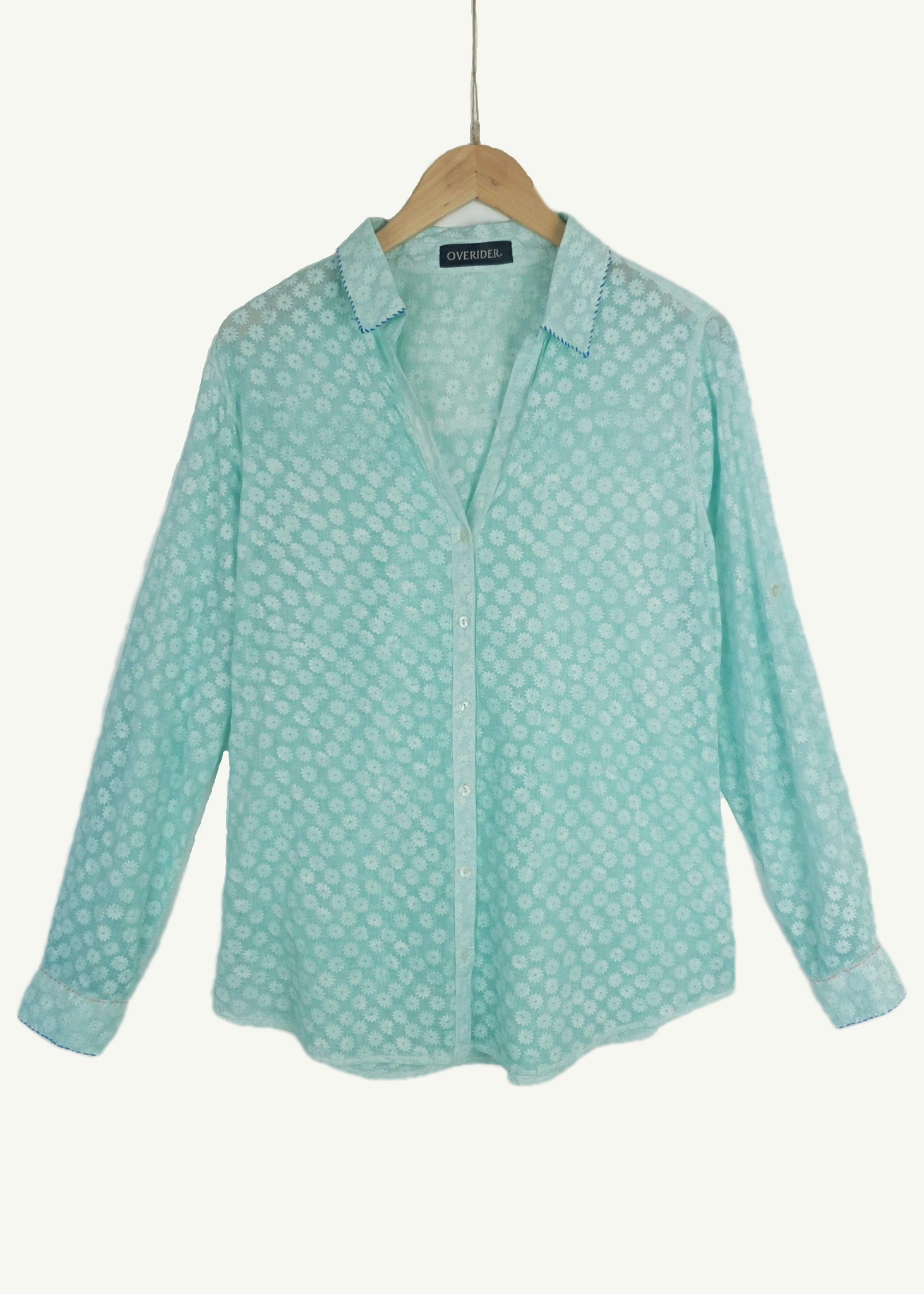 TALITA - Summer Patterned Shirt - Surf Blue