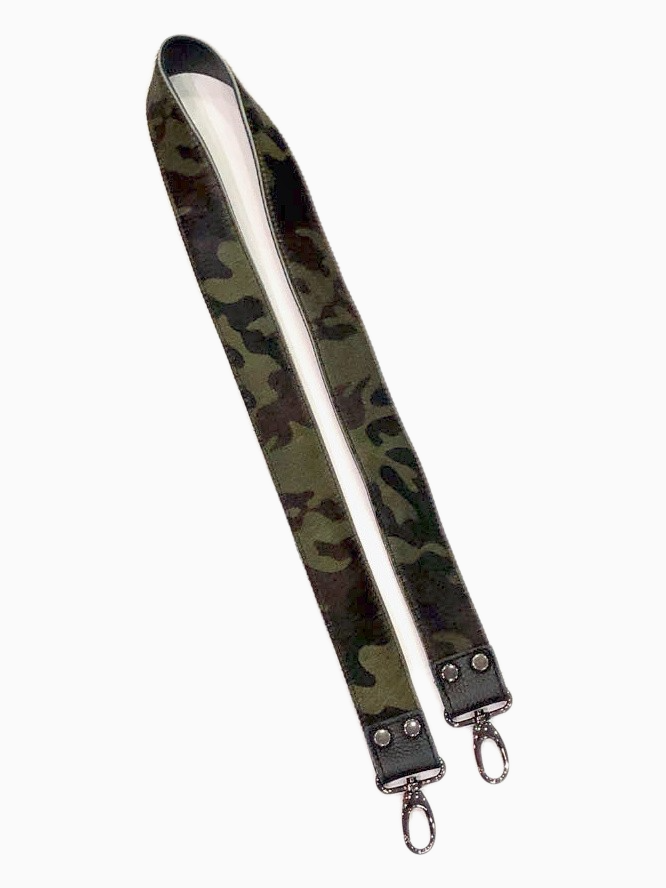 Cowhide Leather Bag Strap | Camouflage