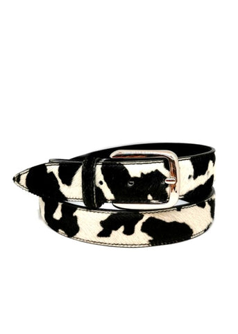 ELOISE - Small Leopard Print Leather Belt