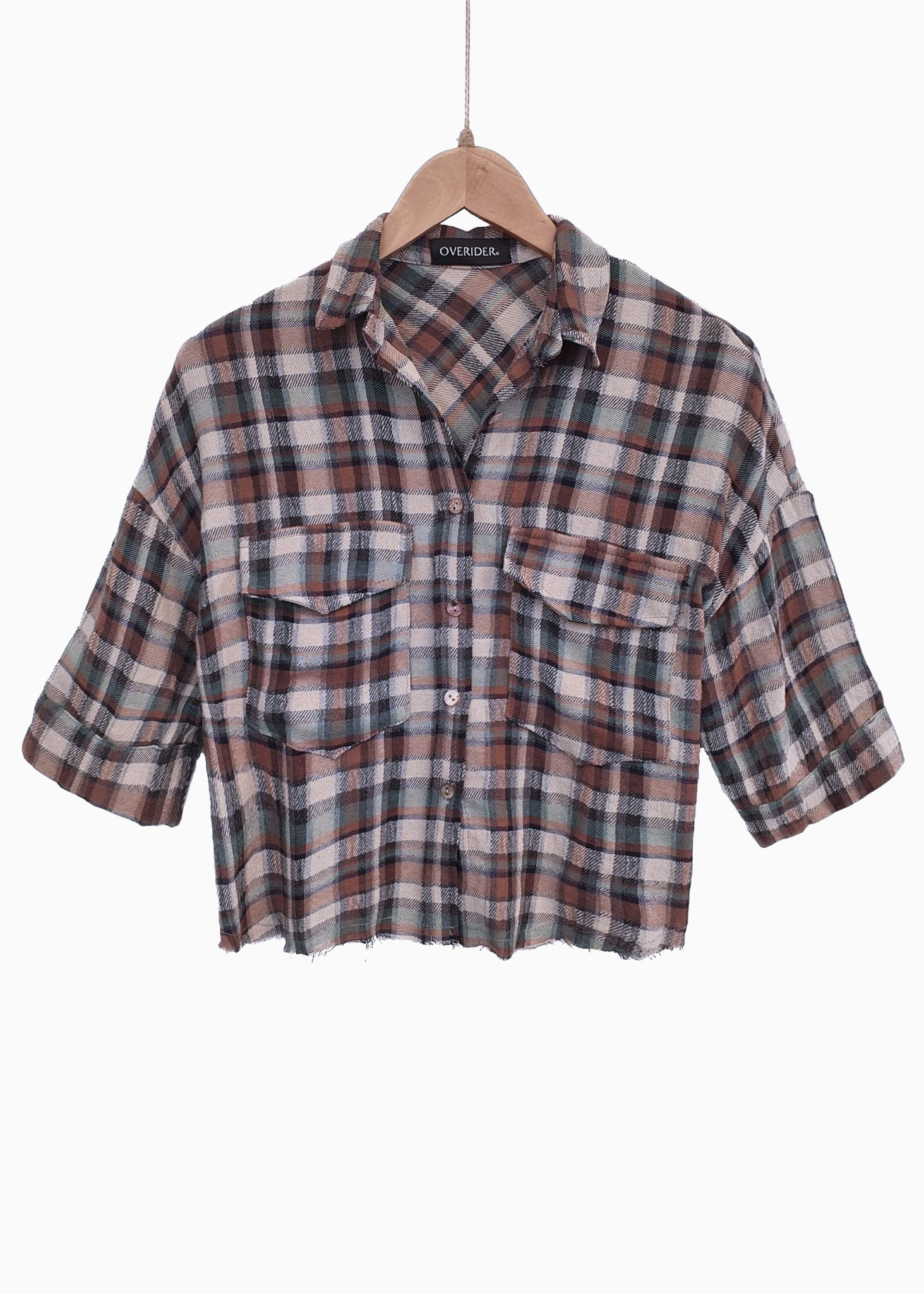 TILLI | Cropped Check Shirt