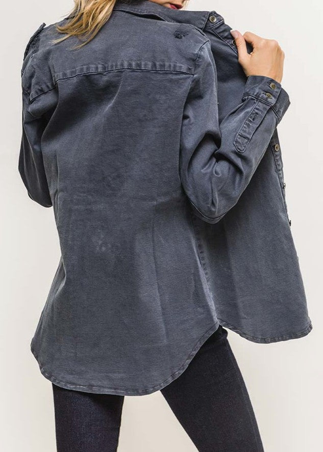 KARLA - Star Denim Shirt