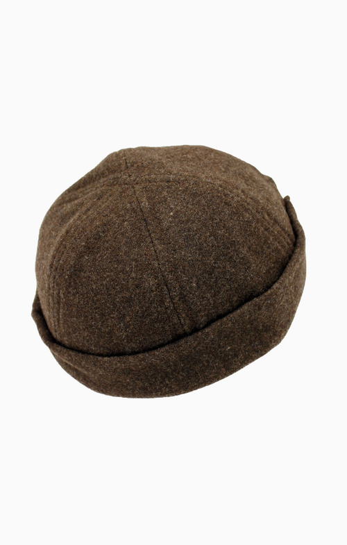 MATILDA | Wool Docker Hat | Peat