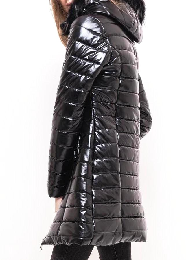 INKA - Gloss Black Puffer Coat