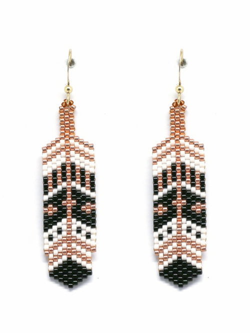 Woven Metal Feather Earrings