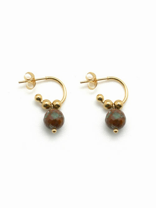 Genuine Jasper Stone Earrings