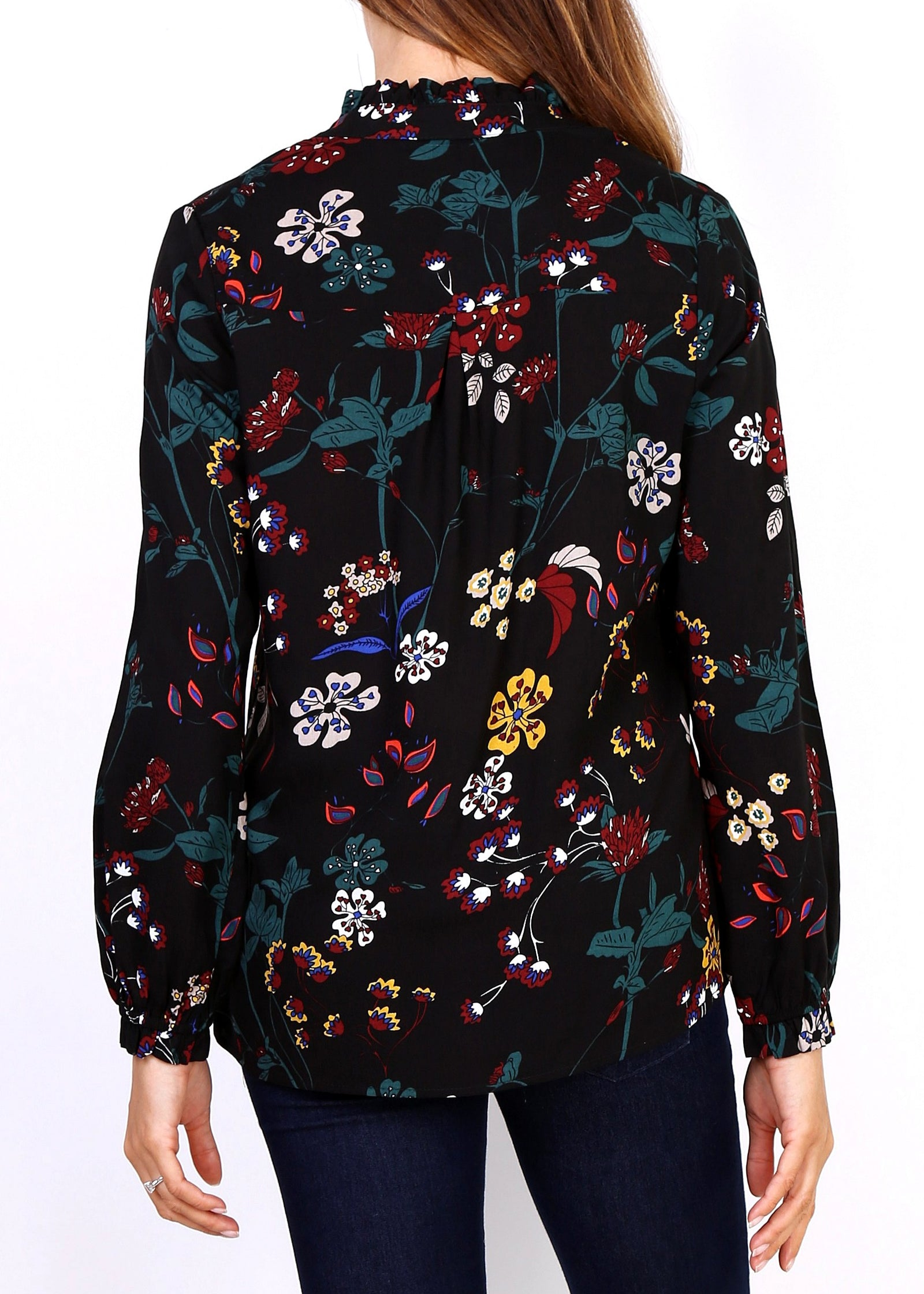 Esther - Winter Floral Blouse