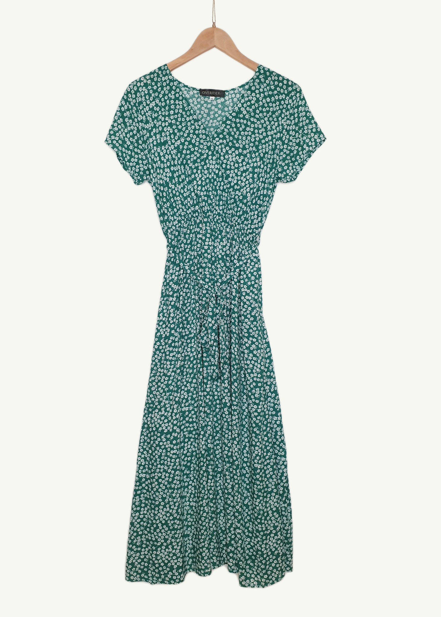 MANON - Floral Cotton Dress - Green