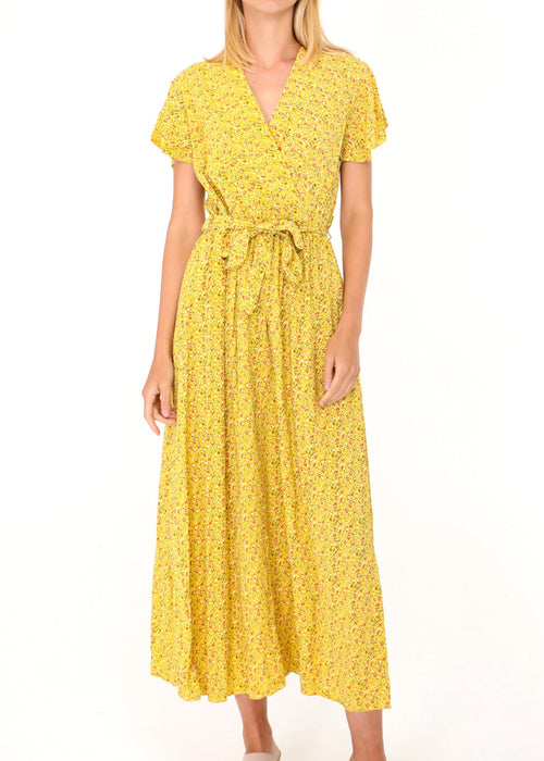 COLETTE - Floral Summer Dress - Yellow
