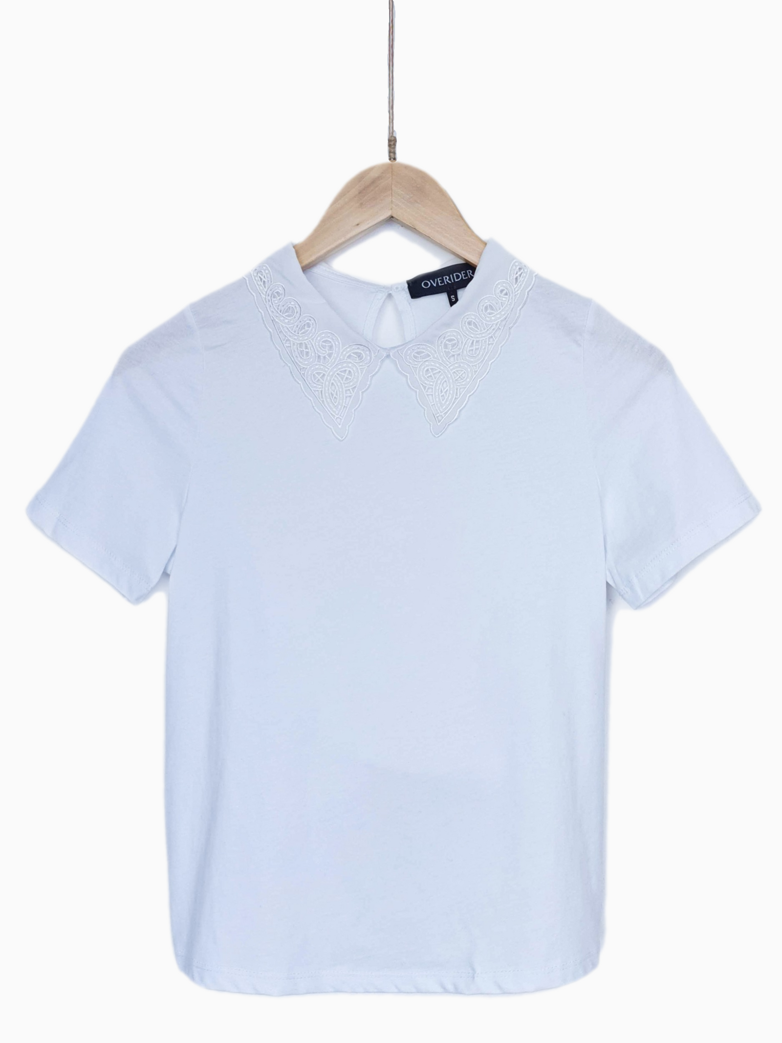 NEW | REMI | Frill Collar T-Shirt | White