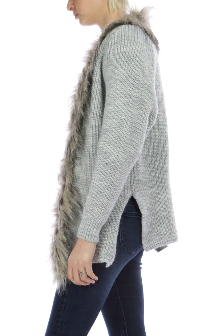 JENA - Fur Collar Cardigan - SOLD OUT