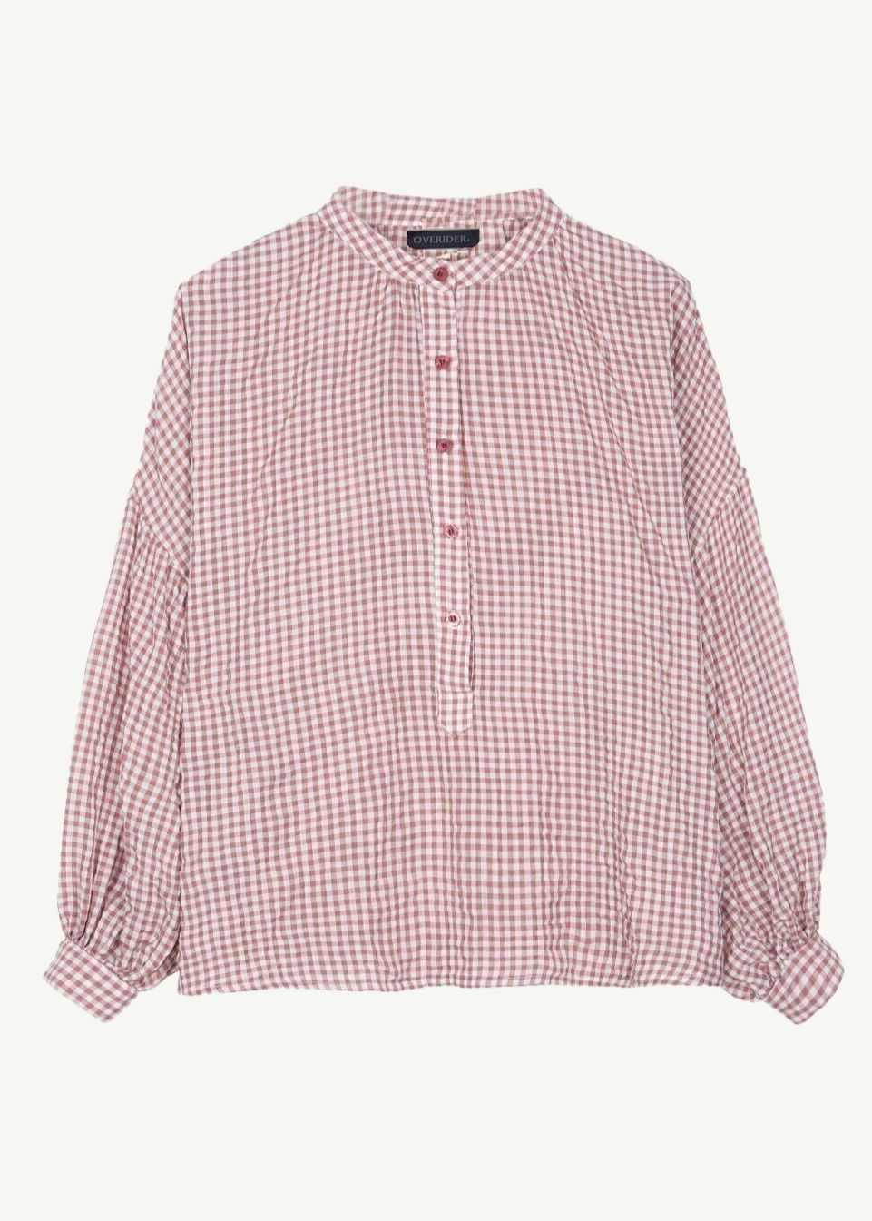 BASTINA - Gingham Shirt - Blush