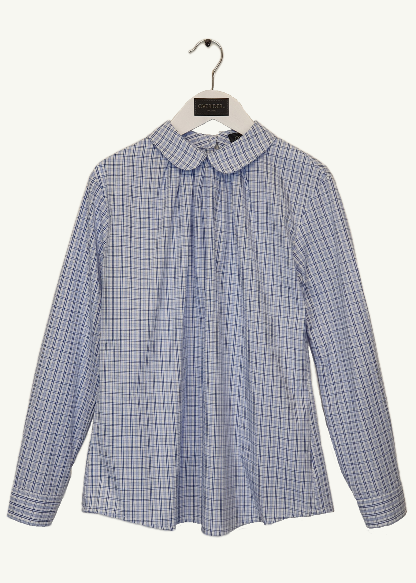 AVELINE - Girls Plaid  Button Back Blouse