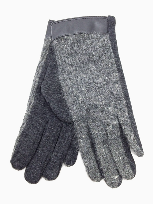 Bi Colour Gloves | Grey & Anthracite