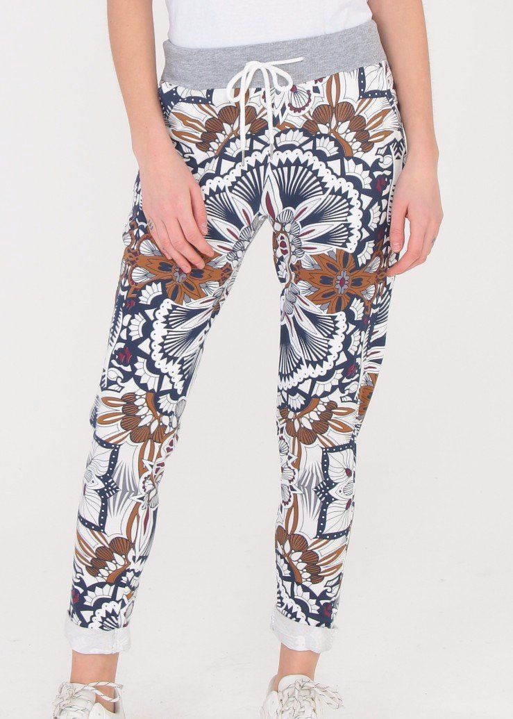 ZOFIA - Patterned Slouch Pants