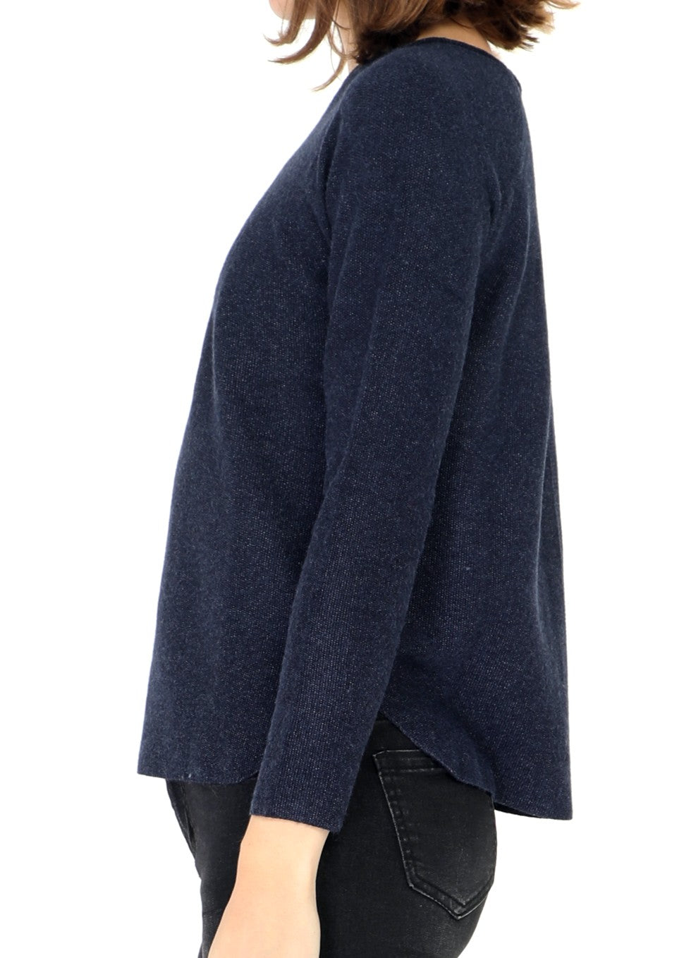 CHANTON - Raw Ribbed Jumper - Indigo Blue