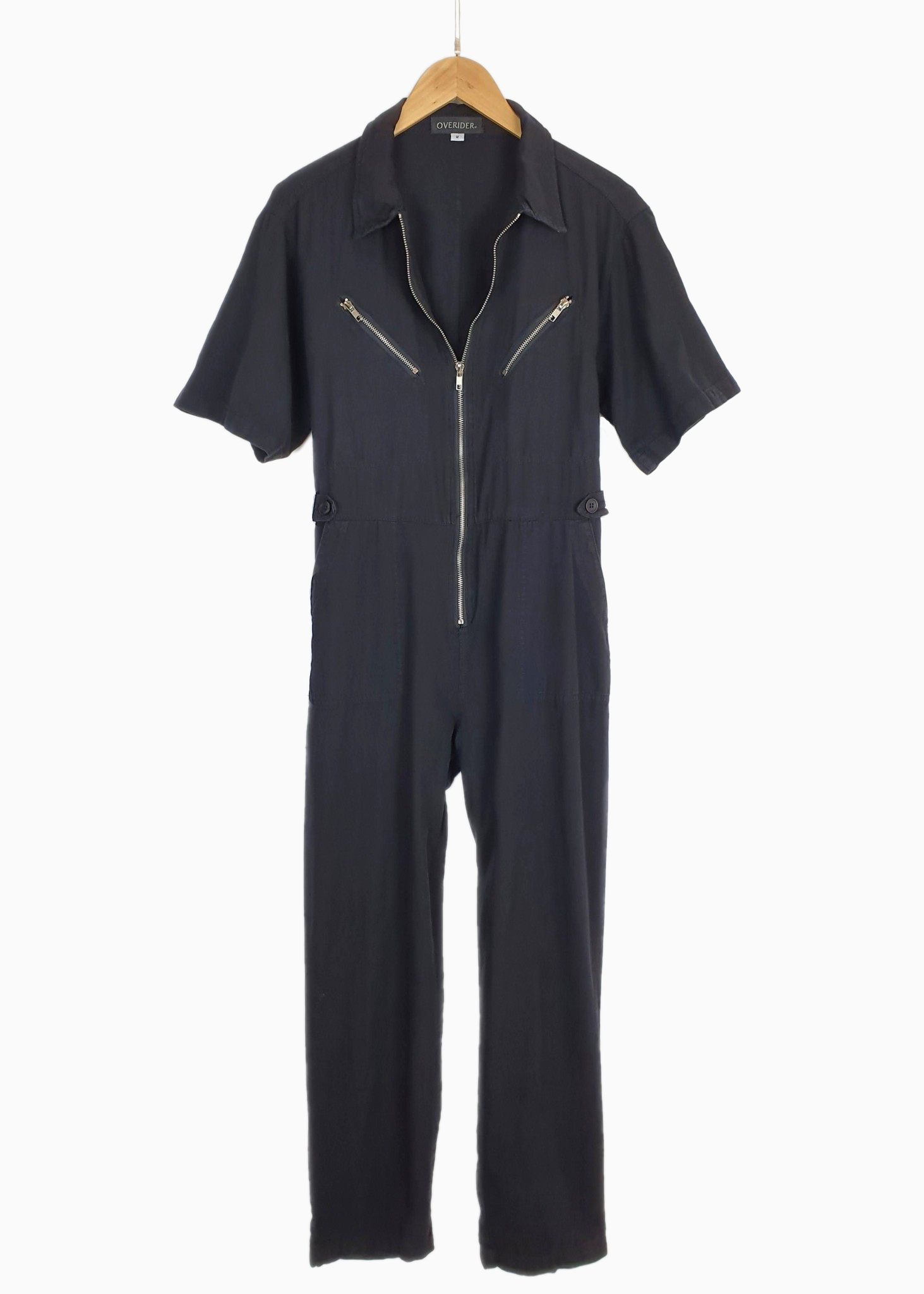 GISELE | Zip Cotton Jumpsuit | Black