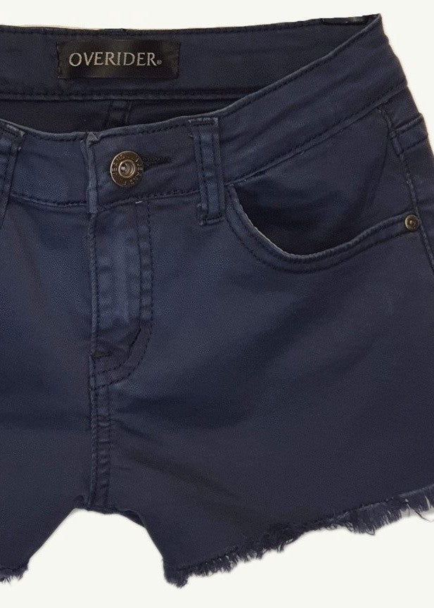 INDRIE - Girls Denim Shorts - Navy