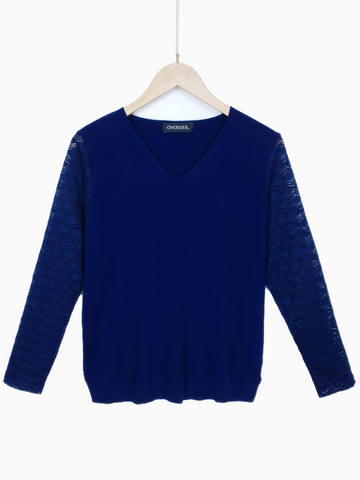SMALL STAR - Embellished Jumper - Dark Blue Jean