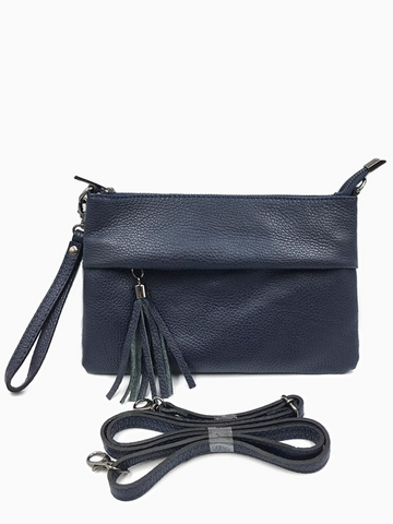 NAARA - Washed Leather Bag | Mud