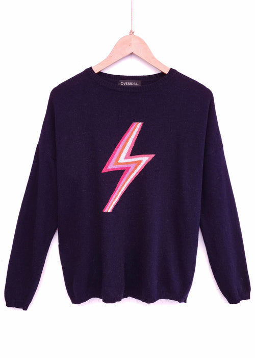 LIGHTNING BOLT - Cashmere Blend Jumper - Navy