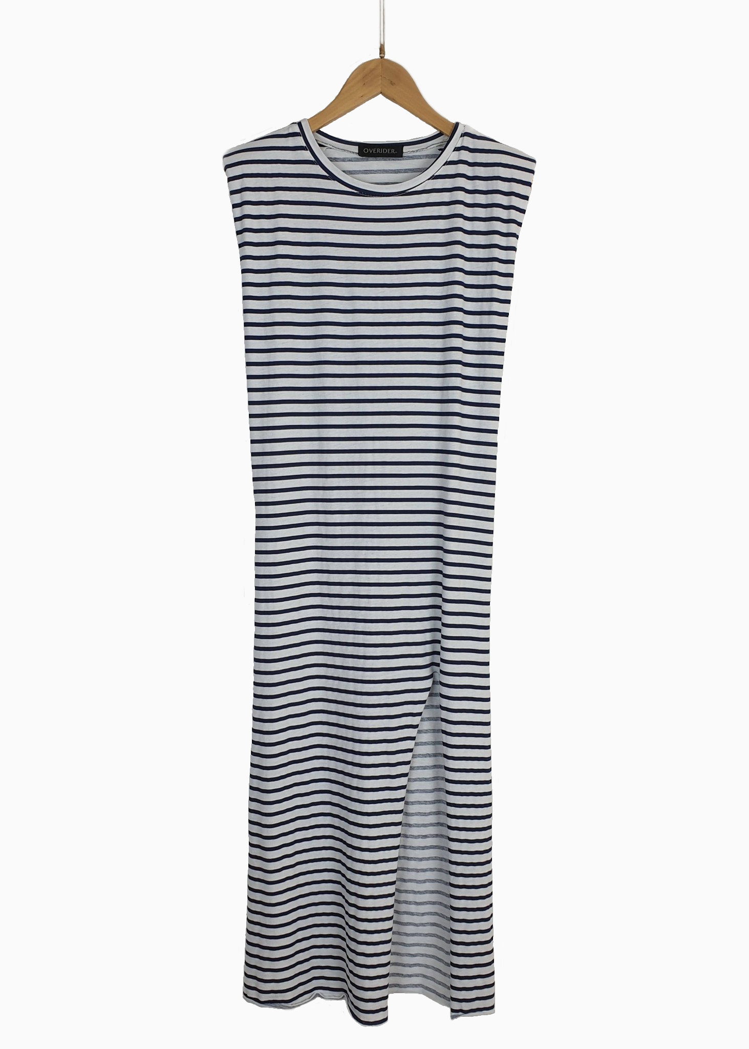 LYDIE - Long Striped Dress - Navy