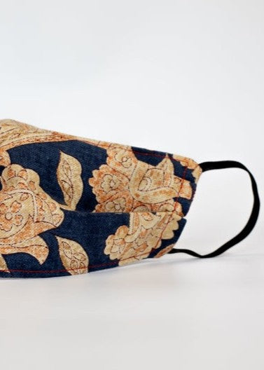 FACE MASK - Navy/Gold