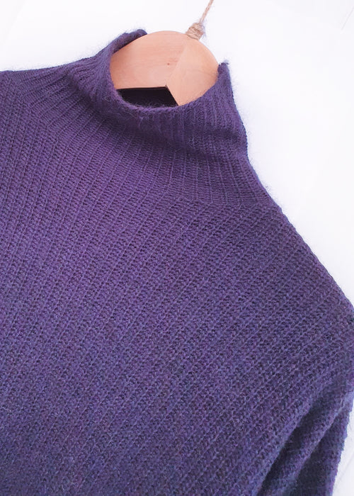 NATALAY | Tall Turtle Neck Jumper | Navy