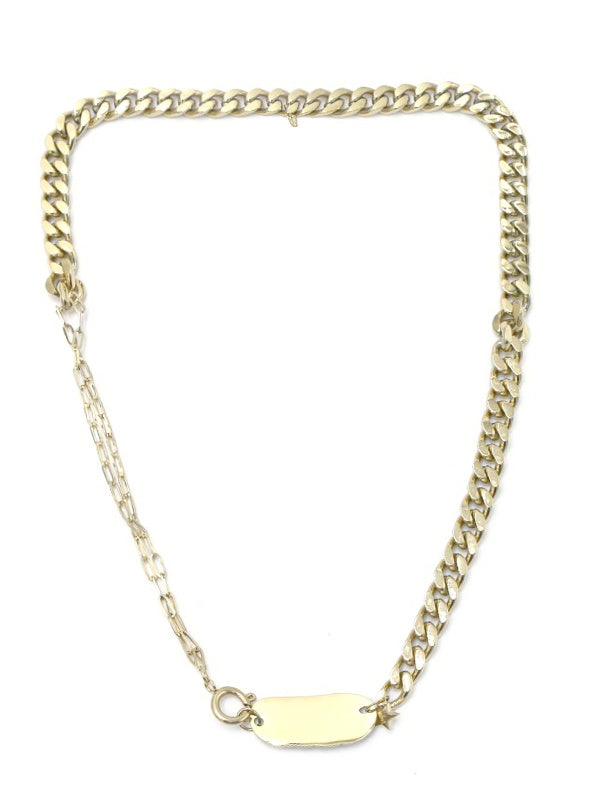 Chain & Plate Necklace