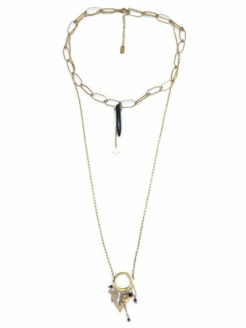 Chain Link & Pendent Necklace