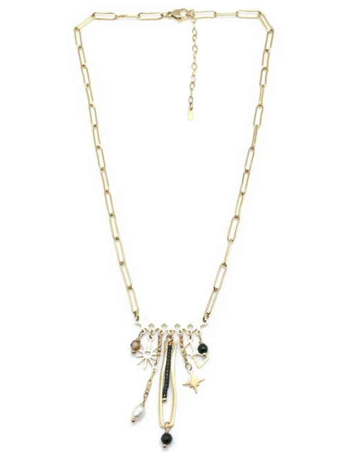 Fantaisy Bar Necklace | Gold