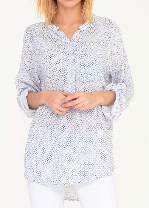 CECILE - Patterned Blouse - Pale Grey