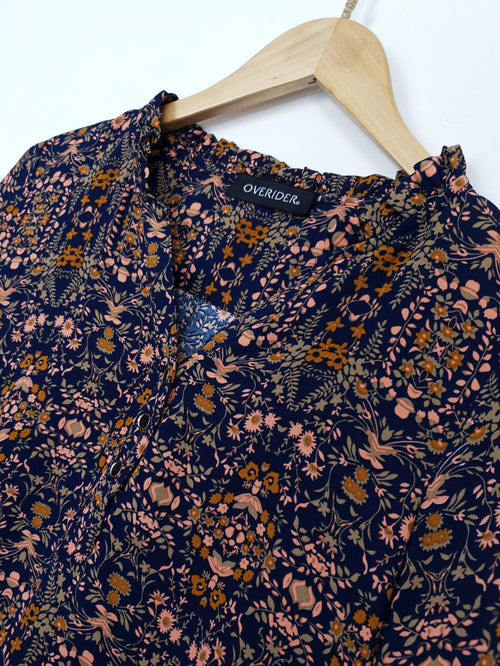 KATINA - Patterned Blouse - Ochre