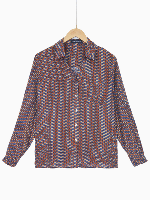 ANNIKA - Patterned Shirt - Ochre