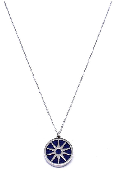 ANAIS - Necklace - Silver & Navy