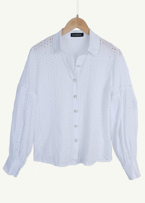 DARCY - Embroidered & Perforated Shirt