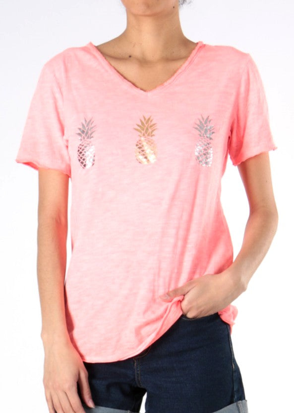 Pineapple - TShirt - Coral