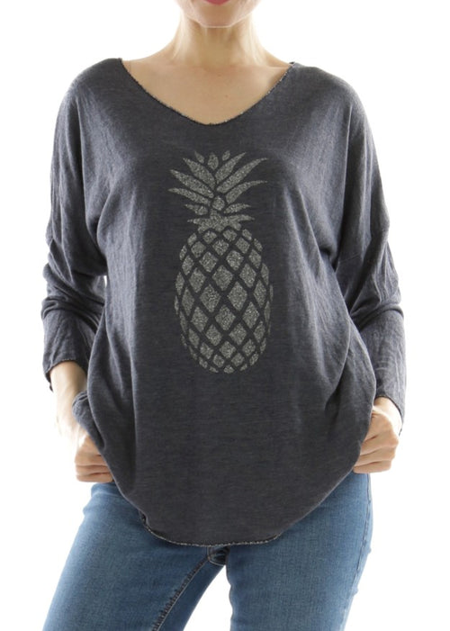 LEELA - Pineapple Top - NAVY