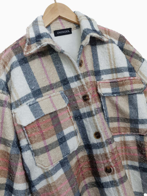TATIA | Plaid Long Shacket | LOW STOCK!