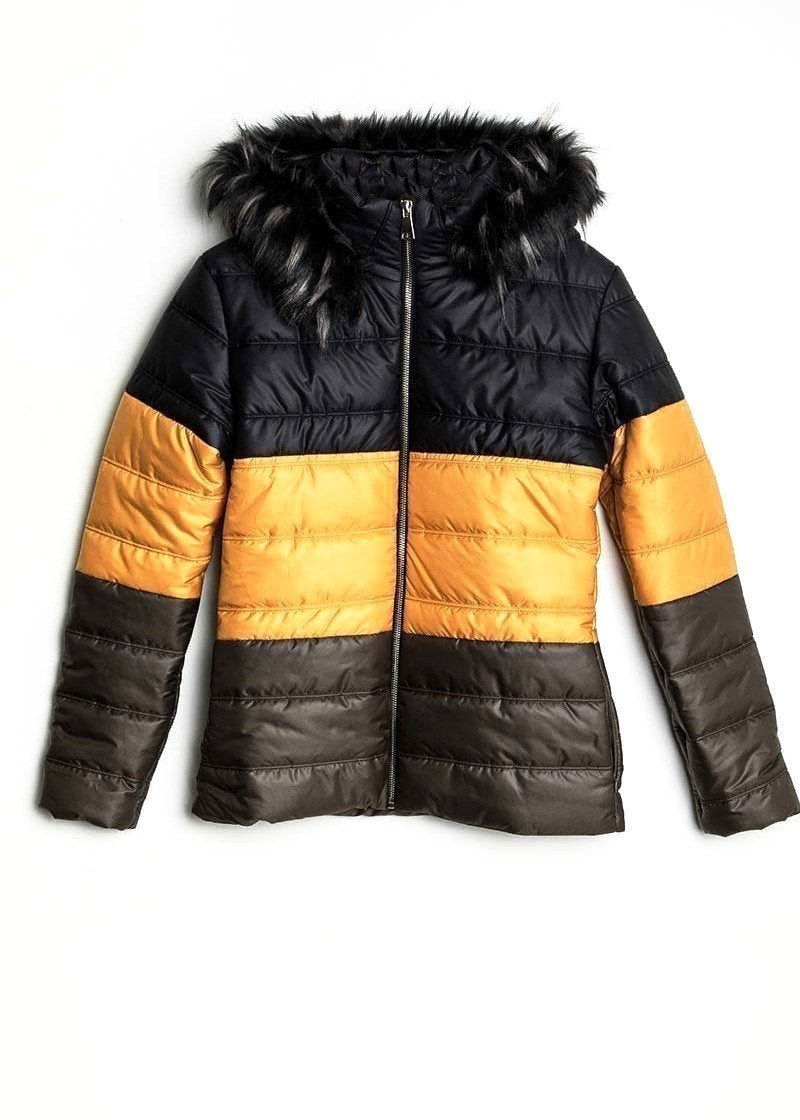 SOFIE - Block Stripe Puffer Jacket
