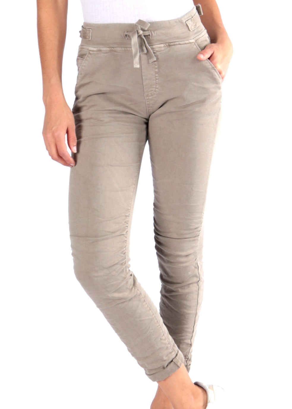 SOFIA - Pull-on Jeans - Dusty Road