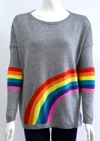 ENISA - Rainbow Jumper in Cashmere & Wool - Grey