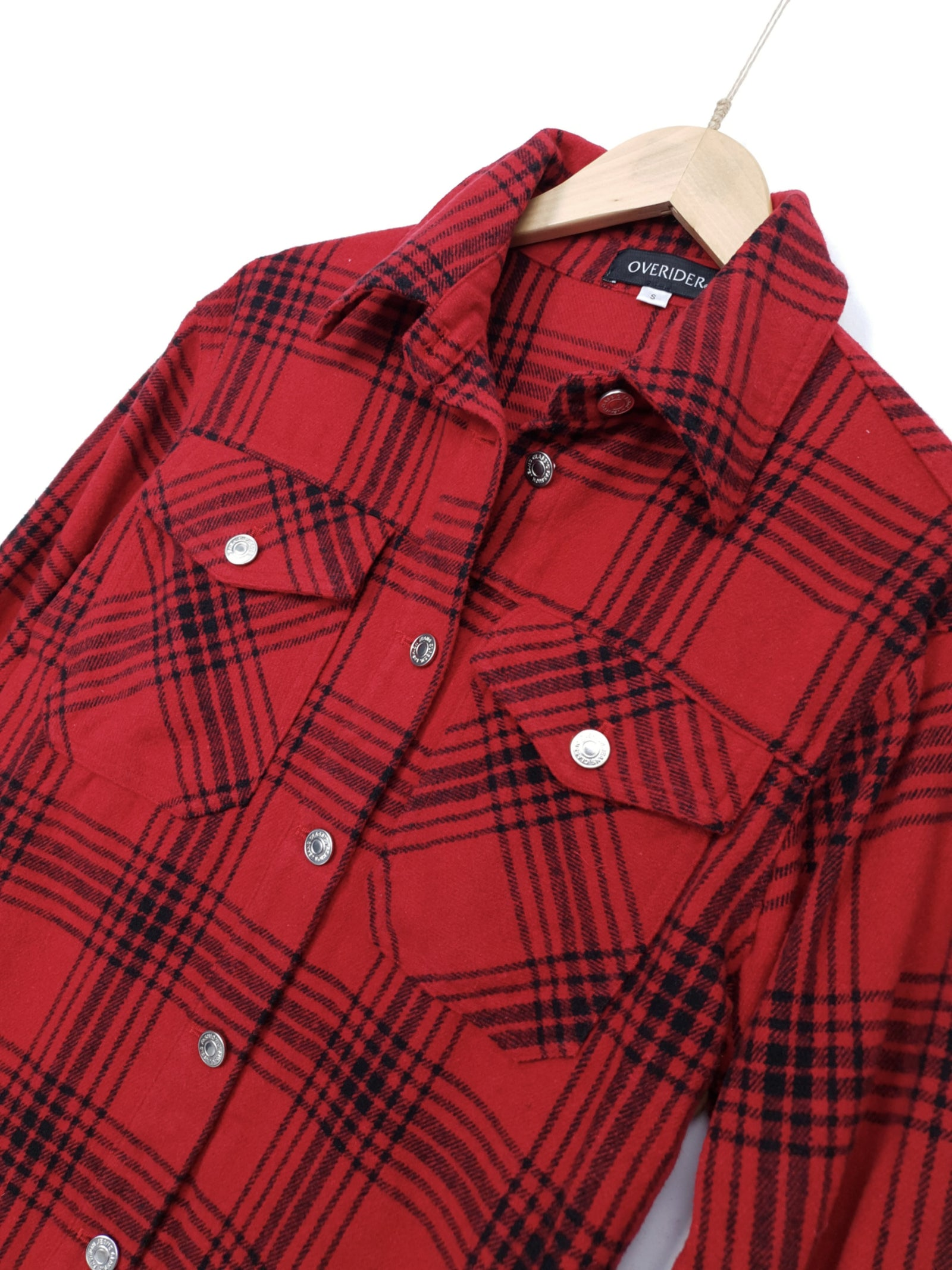 MASIE | Brushed Cotton Shirt | Red