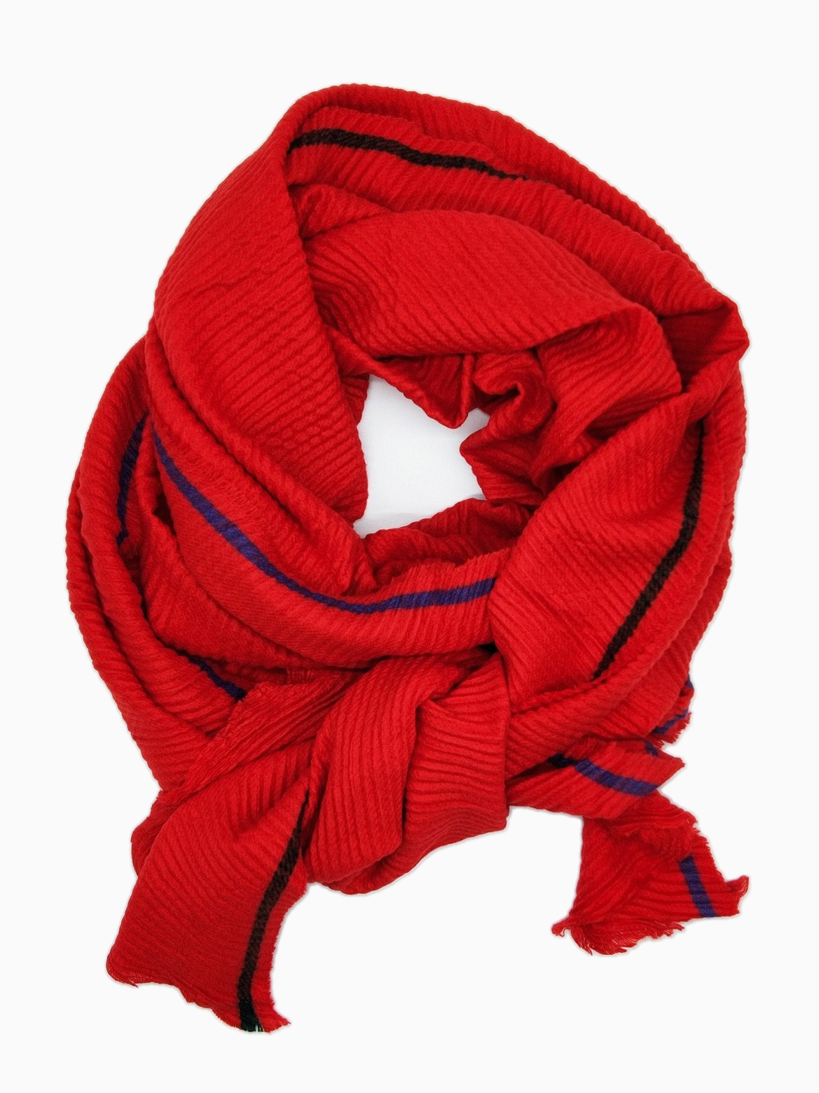 TESSA | Single Stripe Scarf | Red